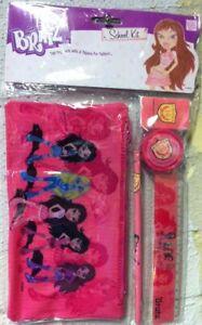 Bratz Stationary School Kit Set - Pencil Case, Rubber, Ruler, Pencil and Sharpne