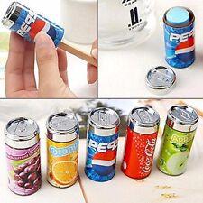 2PCS Juice Cans Coke Pencil Sharpener Eraser Novelty Stationery Gift