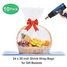 Lazyme Basket Cellophane Shrink Bags 24x30 Inchshrink Wrap Bags Large Clear
