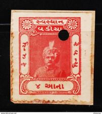 INDIAN PRINCELY STATE WADIA 4AN REVENUE OLD RARE FISCAL STAMPS #C3