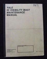 Yale Gabelstapler 4 1/2 5 1/2 6 7/8 Hohe Sichtbarkeit Mast Pflege Operator
