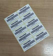 500 Fake Tracking Barcode Number Tracked INR Labels On Rolls 50mm x 25mm
