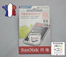 Carte Mémoire Micro SD SanDisk Ultra A1  32GB - 98MB/S Class 10