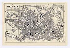 1937 ORIGINAL VINTAGE CITY MAP OF PIACENZA / EMILIA-ROMAGNA / ITALY