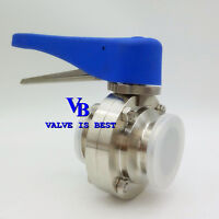 "1.5"" Stainless Steel 304 Multi-Position Handle Clamp Sanitary Butterfly Valve"