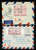 Czechoslovakia 4 Early Registered WWII Flown Covers VF