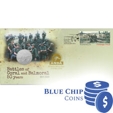 2018 50c UNC Battles of Coral & Balmoral 50 Years - ANDA Overprint PNC