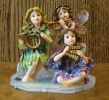 Boyds Wee Folkstones Faeries 36015 JILLIAN, PIPER & MELODY...SUGARPLUM SONATA 4""