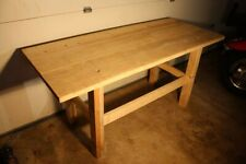 """HANDMADE 6 Ft. SOLID WOOD TABLE. STRONG! 1.5"""" 100% Reclaimed Rustic Dining."""