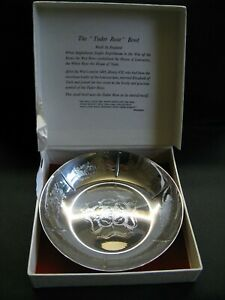 VINTAGE SILVER PLATED TUDOR ROSE BOWL - MADE IN ENGLAND - WITH BOX
