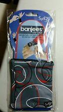 NEW-Sprigs Banjees Wrist Wallet Holds cash, keys, cards, id---GRAY ORANGE SWIRL