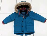 Next Baby  Boys 18-24 Months Blue Hooded Winter Coat