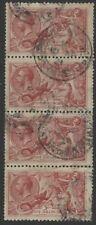 Great Britain 180 (SG 416) vert s.4 used w/1921 pmks - 5/ seahorses George V