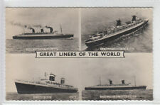 Great Liners Of The World Cunard RMS Elizabeth & Mary SS France & United States