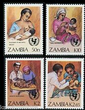 Zambia MNH 4v, Breast Feeding, Child, Health, Medicine  - M70