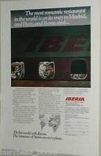 1970 Iberia Airlines ad, Spanish Airline, chef, food