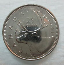 1990 CANADA 25¢ BRILLIANT UNCIRCULATED QUARTER
