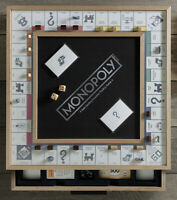 Monopoly Luxe Maple Edition Wood Cabinet Game Board Luxury Premium Collectible