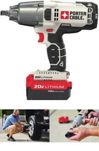 PORTER-CABLE Cordless Impact Wrench 20V 1/2-Inch, Pro Lith-Battery PCC740LA NEW*