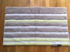 DKNY Streetscape Stripe Multicolor Cotton Bath Rug, 21 x 34 in, NEW