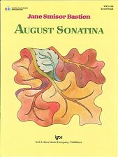 August Sonatina Piano Solo Sheet Music Level 4 Jane Smisor Bastien WP1132