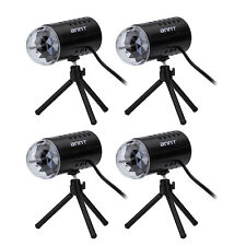 4X Mini Stage Lighting Party DJ KTV Light Sound Activated Laser Projector Effect