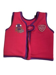 Speedo Sea Squad Girls Swim Vest Floatation Buoyancy Float Pink Age 1-2 years