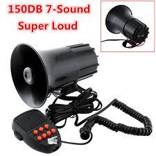 12V 100W 7-Sound 150DB Super Loud Car Truck Electric Air Horn Siren PA Speaker
