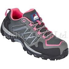 Himalayan Ladies Composite Toe Cap Pink Grey  Metal Free Safety Trainers 4302
