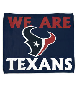 """WinCraft Houston Texans Rally Towel 15"""" X 18"""" We Are Texans Navy Blue New"""