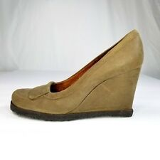 fe1454c2f48f Audley London Womens Brown Suede Wedge Shoes Size 41 UK 10.5 US Rubber Sole