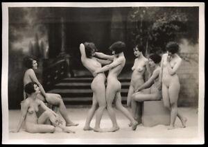 1925 Original Albert Arthur Allen Gelatin Silver Nude Fine Art Deco Photograph
