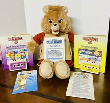 Vintage 1985 Teddy Ruxpin warranty card Works With Two Tapes And Books