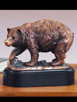 "Handcrafted Bear Copper Figurine Statue 7"" x 6"""