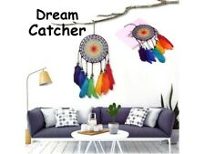 Dream Catcher Handmade Colourful Feather Rainbow Wind Chimes Decoration Charm