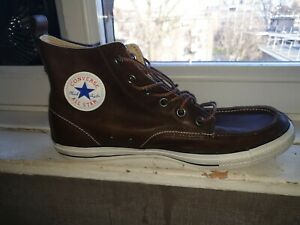 Converse all star Size 12 brown leather Moc toe shoes
