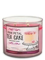 Bath & Body Works Large 3-wick Pink Petal Tea Cake Scented Candles Brand New