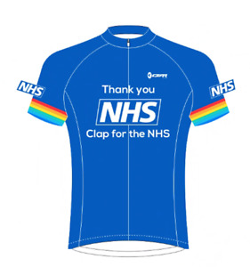 NHS Thank you Kids Cycling Jersey Bicycle Sportswear Top Clothing Boys/Girls
