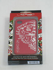 Ed Hardy White Tiger Apple iPhone 4 Protective Skin / Case Colour Red