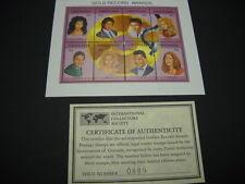 MICHAEL JACKSON Dolly Parton MADONNA Elvis Presley CHER etc RARE stamps w/ COC