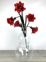 Handmade Contemporary Clear Flower Glass Vase Bunch Bouquet Tall 51cm