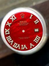 Custom 41mm Red Rolex Datejust Dial