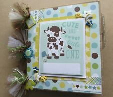 Handmade Premade Baby Boy Paper Bag Scrapbook Photo Album Baby ShowerGift 30+Pic