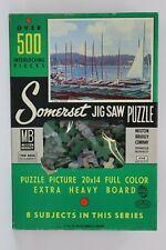 "SEALED 500 Pc Milton Bradley Somerset 1957 20""X14"" Jigsaw Puzzle Blue Lagoon"