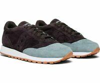 Saucony Men's Jazz Original Suede Low Top Trainer Sneakers Navy/LT Blue