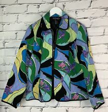 Requirements Womens Jacket Size Small Lined Quilted Blazer Zip Closure Oversized