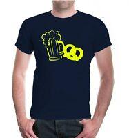 Herren Unisex Kurzarm T-Shirt Maß und Brezn Bier Brezel Oktoberfest Party