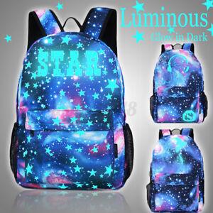 Galaxy School Bag Boys Girls Luminous School Cartoon Backpack Cool For Kids