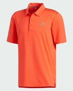 NWT $65 Adidas Ultimate 365 UPF 50 Golf Polo Shirt Mens Burnt Orange SIZE MEDIUM