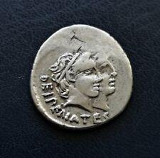 Roman Republic Silver Denarius 47 BC C. Antius C.f. Restio Hercules Trophy Club